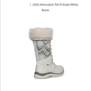 UGG Adirondack Tall III Snake White Boots NEW